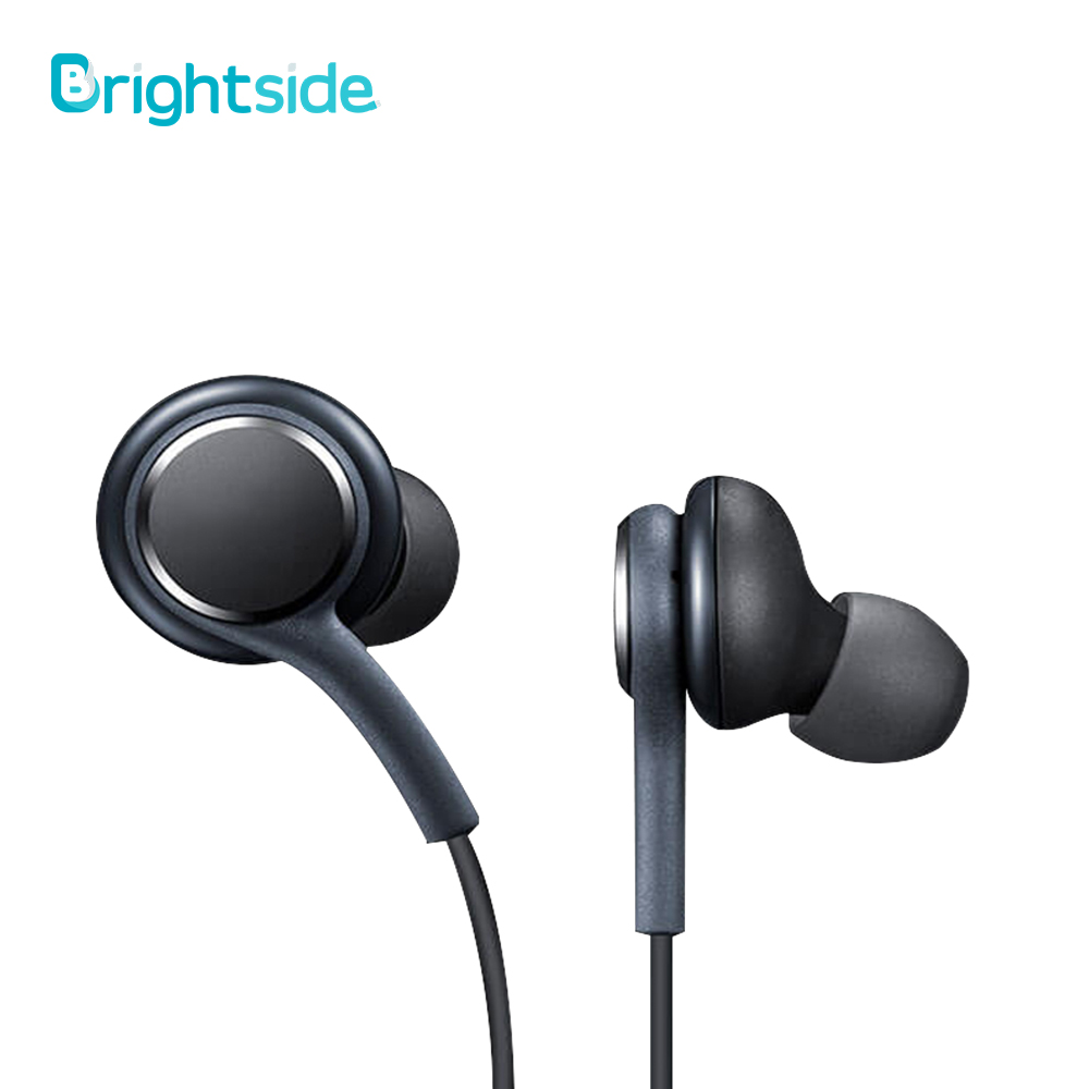 Brightside Original 3.5mm Wired Stereo Earphones Deep Bass Music Sports Earphone Hands-free Call With Microphone