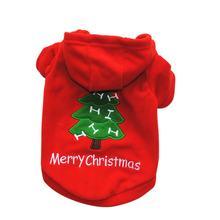 Рождественская Одежда для собак; Красное/зеленое пальто с узором