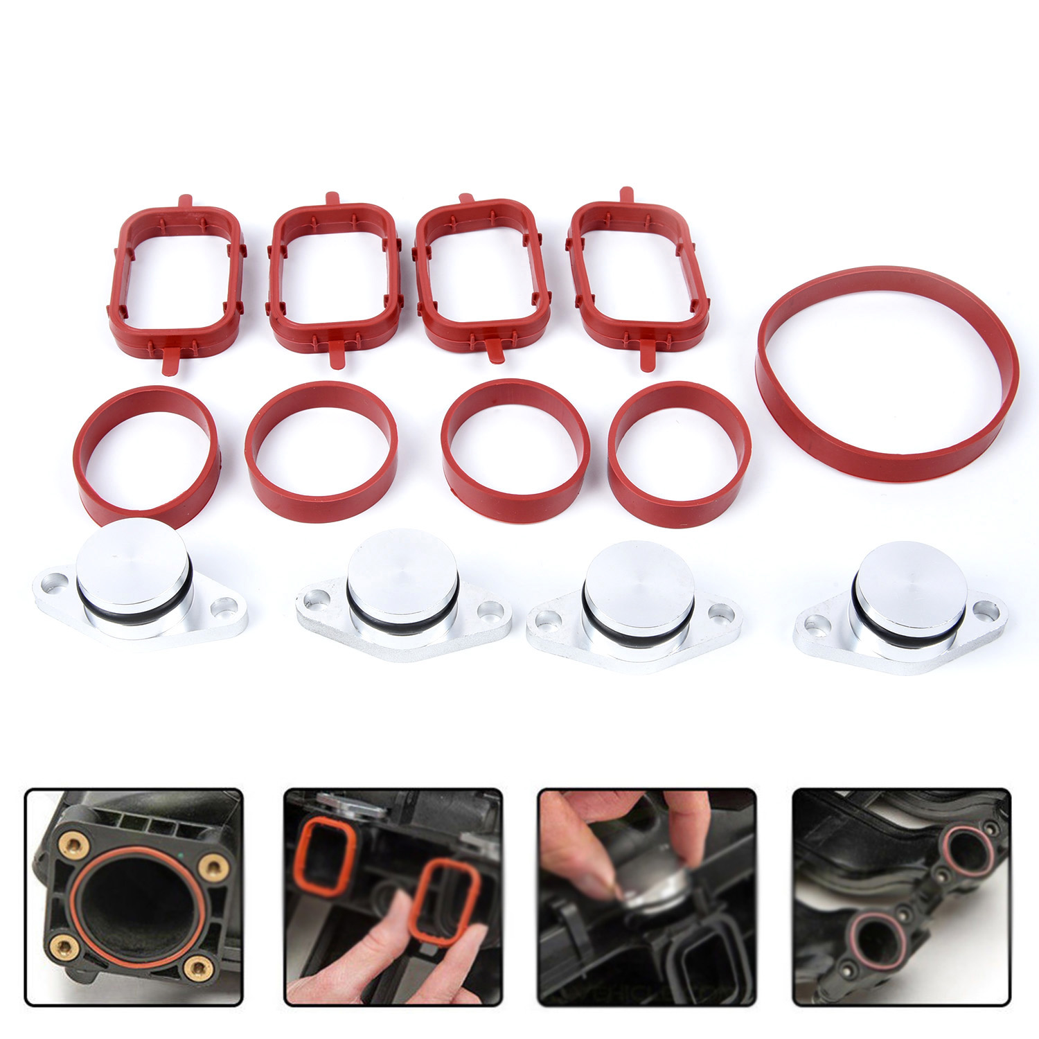 4pcs 22mm Diesel Swirl Flap Blanks Bungs Intake Gaskets Kit For BMW Engine M47 image