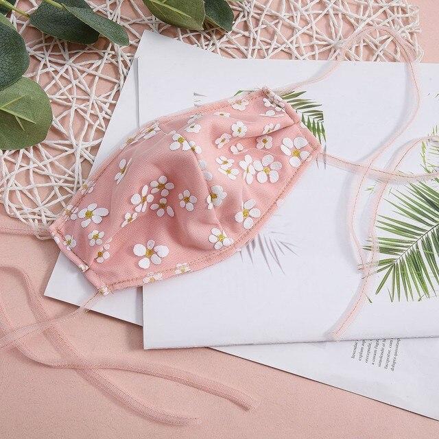 2020 Washable Reusable flowers Pattern Face Mask 3D Cloth Dust proof Women Men Mouth Masks Unisex Korean maschere mascatillas