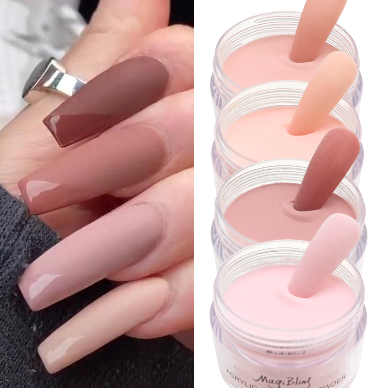 Acrylic Powder Light Pink Powders Carved Nail Art Pigment Dust Nail Tips Extended Polish Manicure Nail Professional Accessories