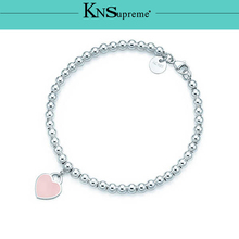 Bulgaria pink Bracelet Original 100% 925 Sterling Silver Women Free Shipping Jewelry High-end Quality Gift have logo 1:1