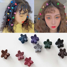10Pcs Hairpin Hair Claw Fashion Girls Small Cute Candy Color Scrub  Jaw Clips Children Styling Accessories Wholesale
