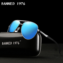 HD Polarized Men Vintage Aluminum Sunglasses Classic Brand d
