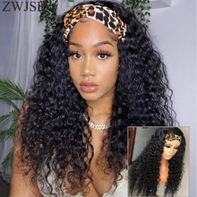 Peluca de cabello humano para mujer, diadema con ondas profundas de 160% de densidad, sin pegamento brasileño cabello rizado, pelucas de cabello humano Remy de 8-32 pulgadas