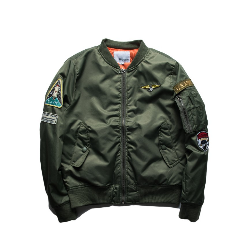 High Street Popular Brand Autumn & Winter MA1 Pilots Jacket Women's Air Force Thick Cotton Coat Men And Women Couples Baseball U image
