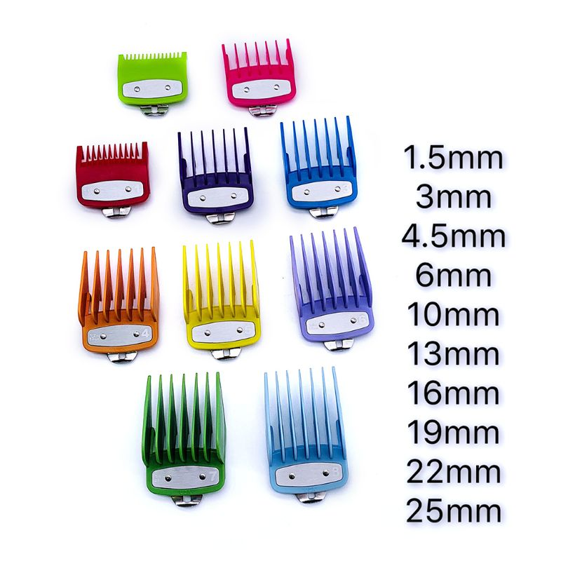 Colorful Guide Comb Multiple Sizes Metal Limited Combs Hair Clipper Cutting Tool High Quality And Brand New