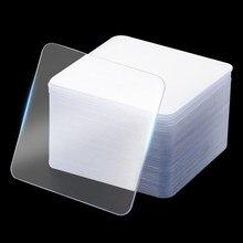1/5/10/20 pces forte viscosidade dupla-face fita adesiva perfuração livre perfurações sem traços dwaterproof fita transparente