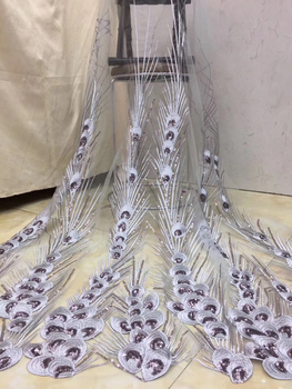 African lace fabric 2020 embroidery Nigeria lace fabric bride high quality French tulle lace fabric wedding D3618