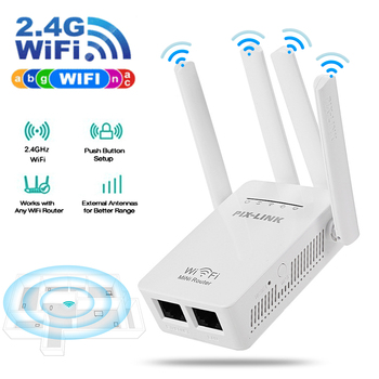 Wireless Router WiFi Repeater WiFi Booster WiFi Amplifier 300Mbps 2.4G Signal WiFi Long WR09 Network Range Extender Repeater-EU