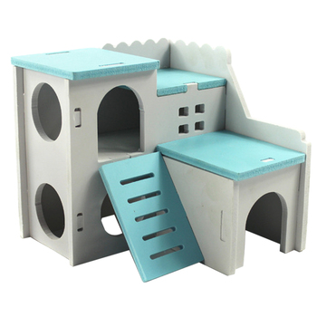 House Bed For Small Animal Pet Hamster Hedgehog Guinea Pig Castle Habitat Cave Toy Pet Nest Squirrel Bed House Cage Accessories 1