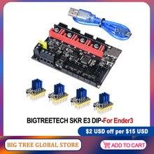 Bigtreetech skr e3 dip v1.1 placa de controle, 32bit para Ender-3 pro 3d peças da impressora tmc2208 tmc2130 spi vs cheetah v1.1 mini e3