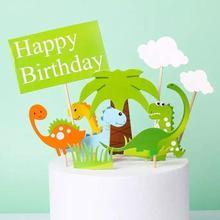 2021 1/12pcs set Dinosaur Cake Topper Mini Figures Theme Party Boy Girl Birthday Gift