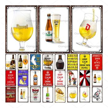 Beer Whiskey Metal Sign Plaque Duvel Metal Vintage Pub Funny Tin Sign Wall Art Decor for Bar Pub Club Man Cave Retro Poster whiskey vintage metal sign tin sign plaque metal vintage retro wall decor for bar pub club man cave metal signs poster