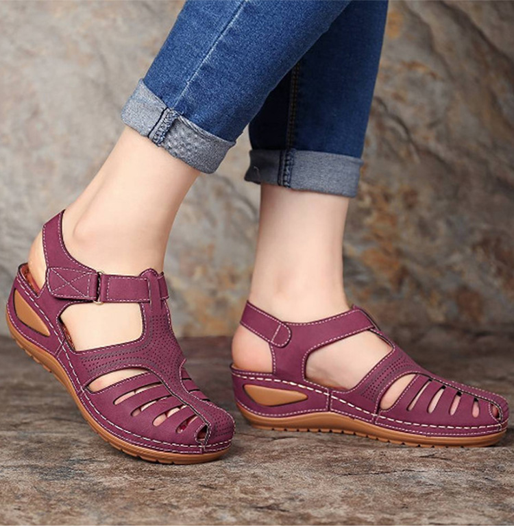 Mulher sandálias de verão sandálias cunha do