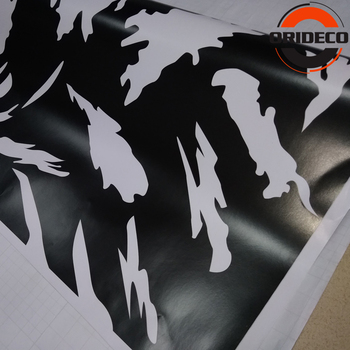 New Black&White Camouflage Vinyl Car Wrap Adhesive Stickers FOR Car Scooter Autobike Skateboard Decal Wrap PVC Film