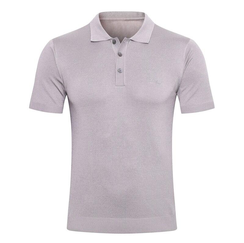 Billionaire polo shirt silk men 2021 New fashion simple short sleeve new thin Button pattern Breathable big size M-5XL quality