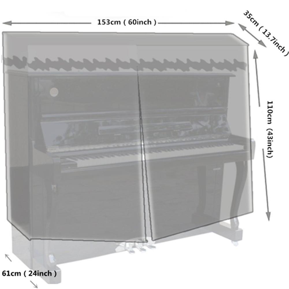 poeira sun-proof vertical piano capa protetora acessórios