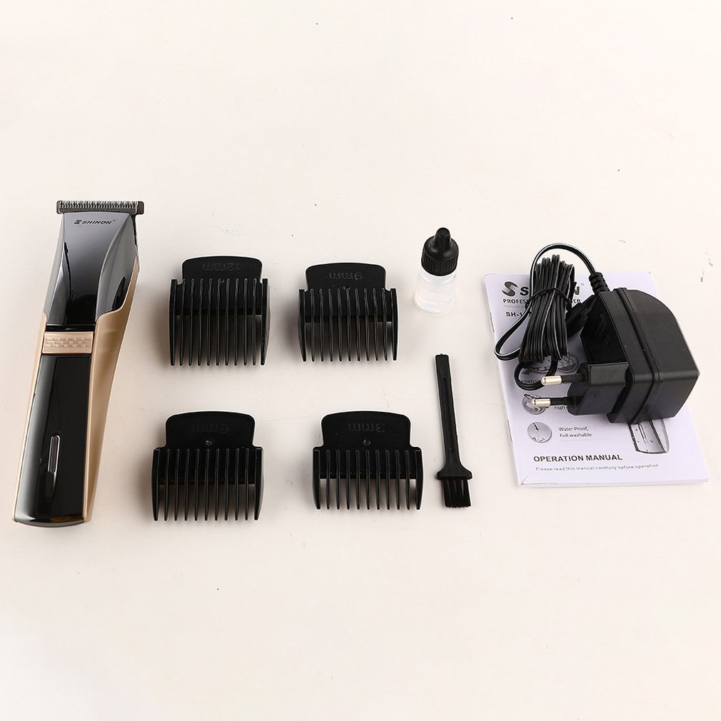 SH-1870 Electric Hair Clipper Rechargeable Washable Hair Cutter Trimmer with Guide Combs Universal Barber Haircut Tool