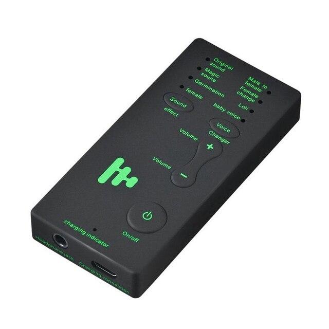 Caliente 3C Voice cambiador de adaptador de 8 voz cambiando modos micrófono distorsionador teléfono micrófono tarjeta de sonido para juego PUBG ancla sonido