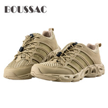 BOUSSAC Free Soldier Outdoor Sports Camping Shoes For Men Tactical Hiking Upstream Shoe For Summer Breathable Waterproof Coating(China)