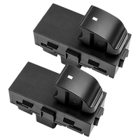2X Power Venster Switches Achter Driver & Passenger L + R Side Voor Chevy Gmc