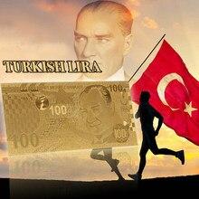 Billetes de oro WR 999, nuevos regalos de colección, Turquía 100