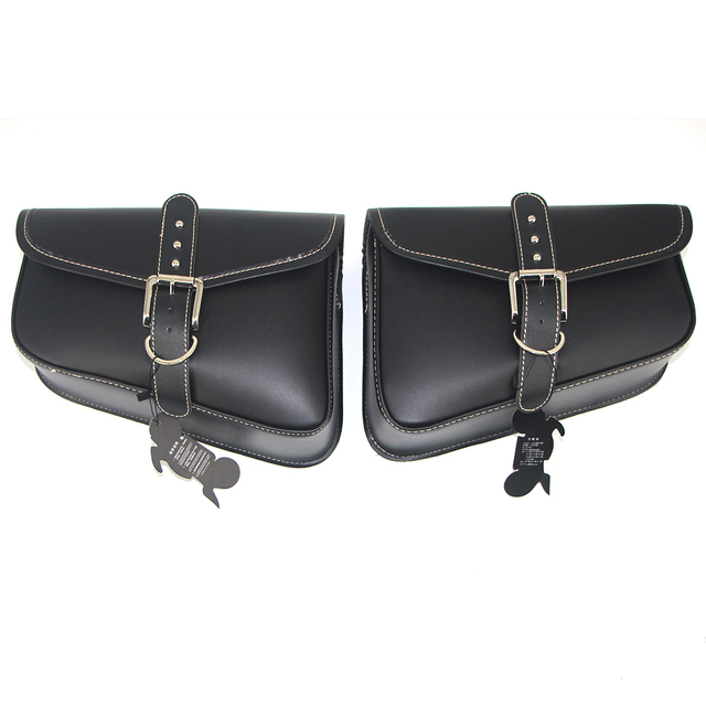 $ US $16.77 Motorcycle Bag PU Leather Saddlebags For Harley Swingarm Bag Sportster XL883 XL1200XL 883 1200 Saddle Left Right Side Tool Bags