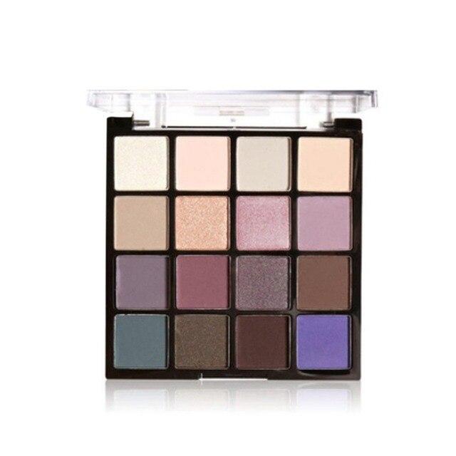 16 Colors/SET Professional Women Eye Shadow Makeup Cosmetic Powder Waterproof Long Lasting Smoky Eyeshadow Palette Makeup Tool 4