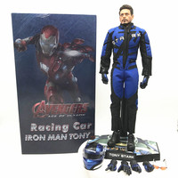 In Stock HC Iron Man racing suit Tony Stark movable model ironman PVC Action Figures Toy Doll kids gift 33cm