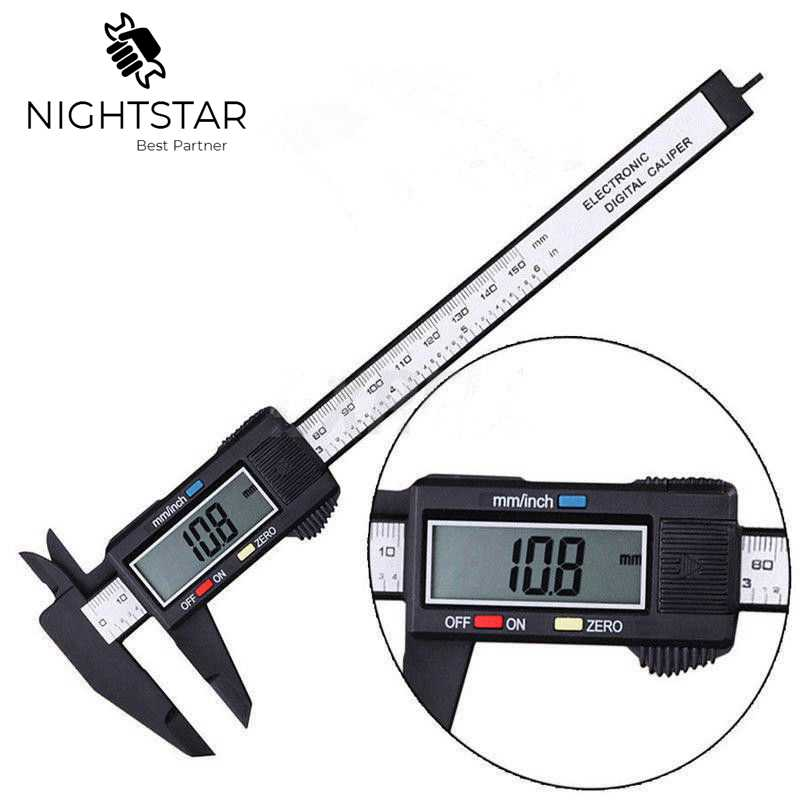 Nauwkeuriger 150mm Caliper Digital Electronic Digital Pachometer Carbon Fiber Vernier Gauge Micrometer Measuring Tool 6Inch