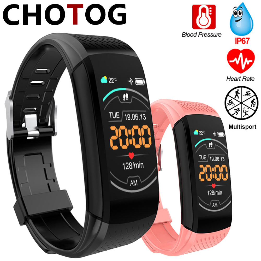 Fitness Bracelet Ip67 Waterproof Fitness Tracker Smart Bracelet Blood Pressure Heart Rate Electronic Smart Band Watch For Sport