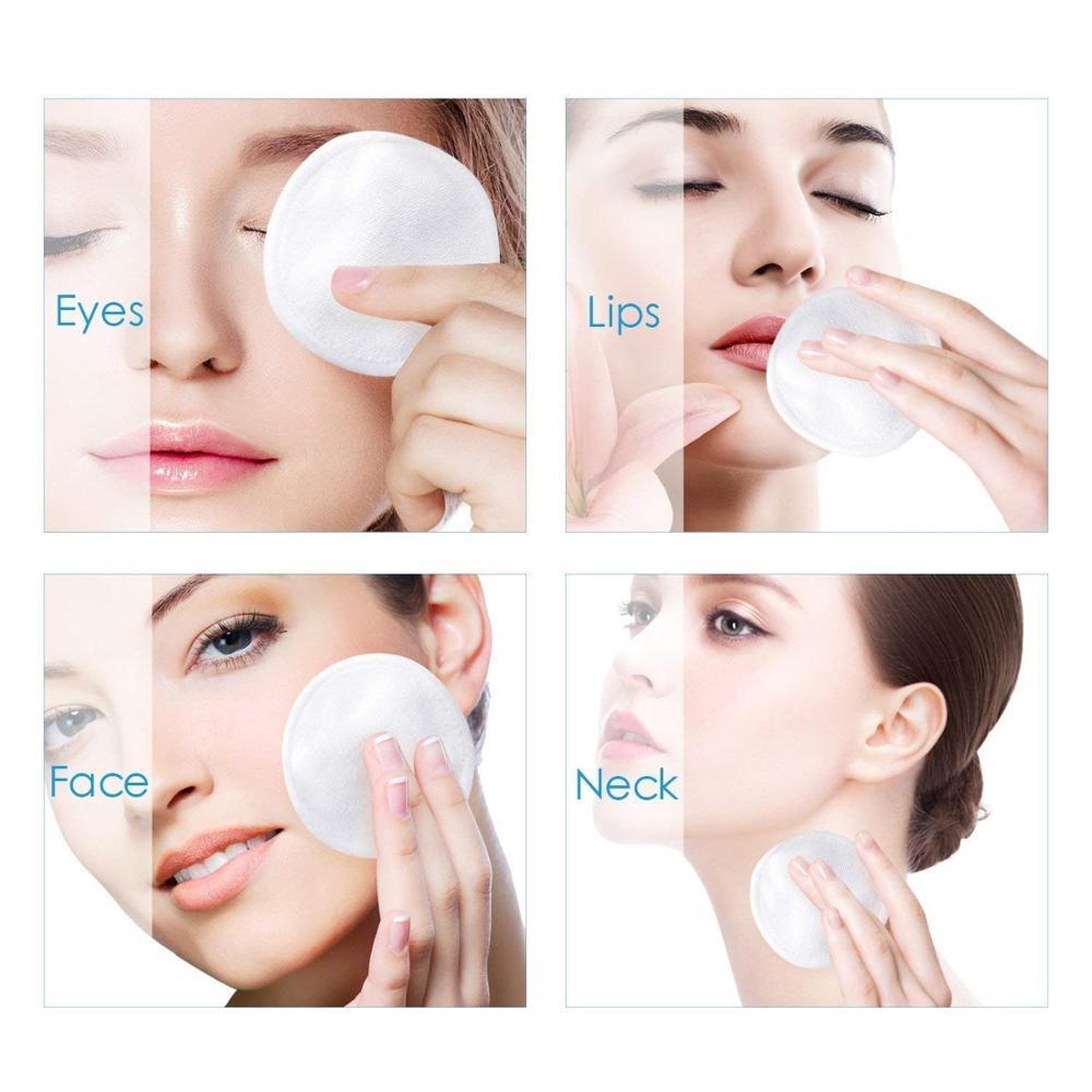 Многоразовые подушечки для снятия макияжа 55 пакетов моющиеся Экологичные бамбуковые ватные диски - 5