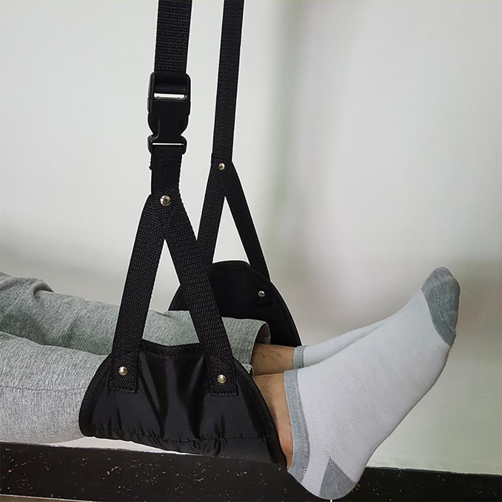 Comfy Hanger Travel Airplane Footrest Hammock Made With Premium Memory Foam Foot Resting Hammock For Travel Office