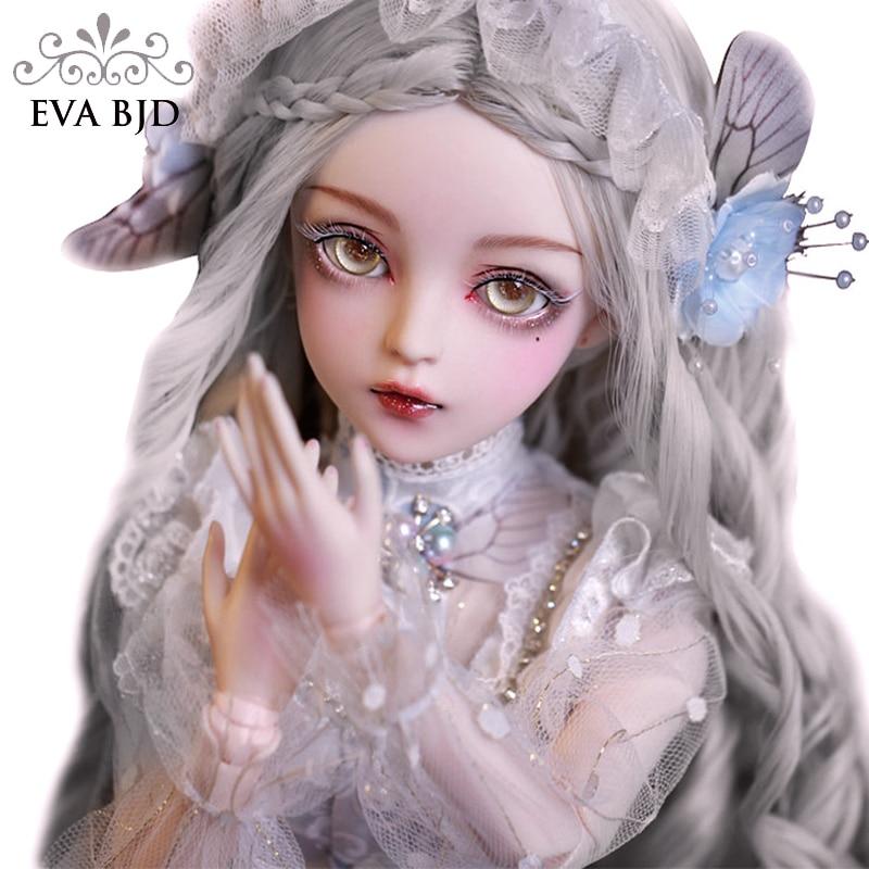 EVA BJD 1/3 Снежный дух BJD кукла ручной работы макияж 24 дюйма 60 см + стеклянные глаза + аксессуары парики одежда обувь свадебный подарок игрушка