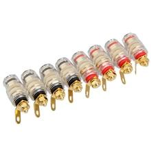 8 шт 4 мм усилитель спикер цилиндрический усилитель вилка штекерного типа
