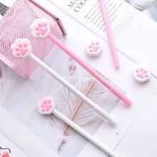 1 шт., новая шариковая ручка с когтями для кошек, креативная мультяшная ручка для письма, канцелярская ручка школы офиса, шариковая ручка, черные чернила