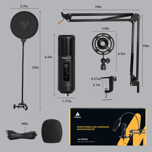 Image 5 - 100% MAONO PM422 USB Microphone Zero Latency Monitoring 192KHZ/24BIT Professional Cardioid Condenser Mic With Touch Mute Button