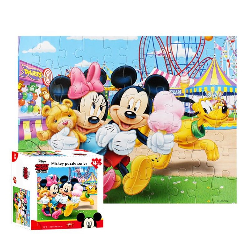 Disney Mickey/princess/winnie/race Car Jigsaw Puzzle 60 Pieces Of Paper Puzzles Toys For Children Birthday Gift
