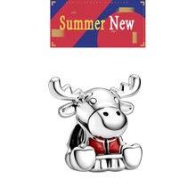 Вторая новые летние последние красный коровий рог бусины в форме
