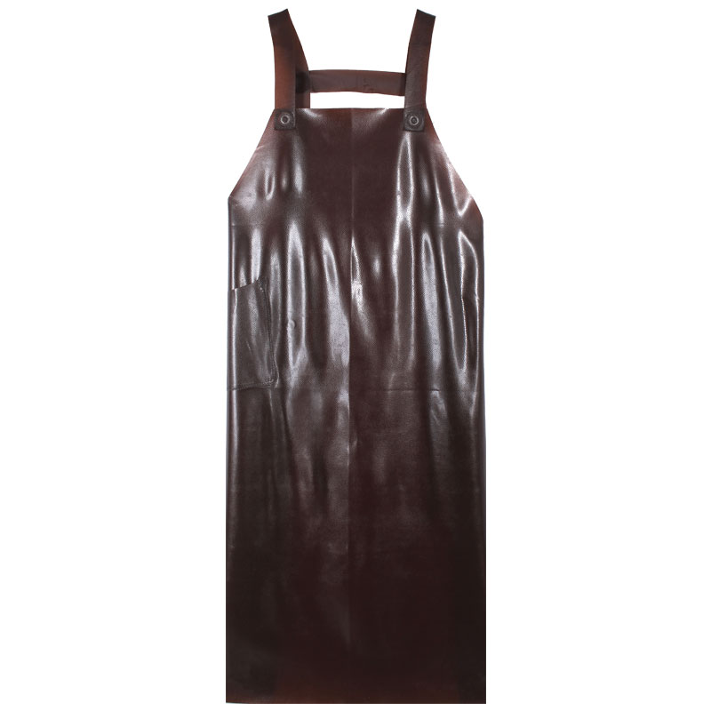 Kalın yelek tipi su geçirmez önlük uzun erkekler ve kadınlar mutfak su iş giysisi sığır tendon yağa dayanıklı deri bel önlük