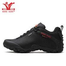 XIANG GUAN/уличная туристическая обувь, европейские размеры 36 48, Мужские дышащие Нескользящие ветрозащитные черные женские туристические сапоги, трендовые спортивные кроссовки