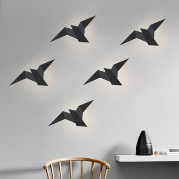 Nordic Led  Birds Wall Lampen 3