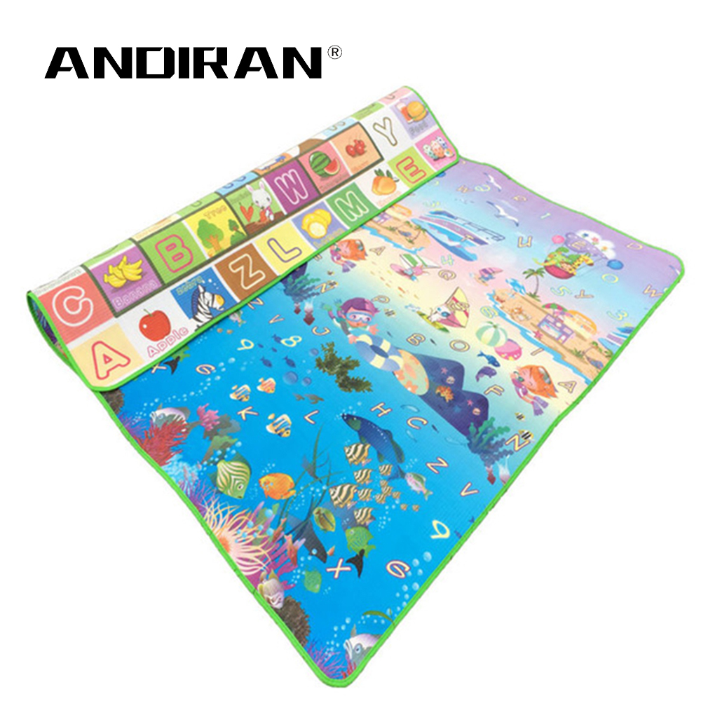 Baby Toy Crawling Puzzle Thin Play Mats 150X180X0.5CM Two Sided Infant Climb Pad Thick Play Carpet