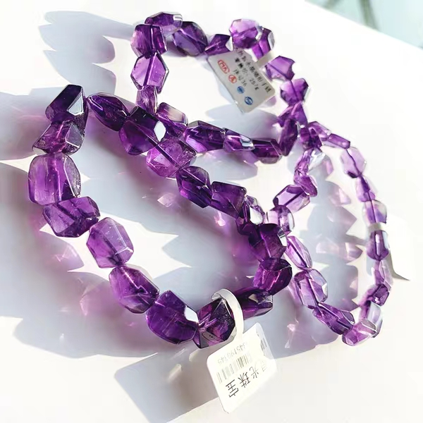 amethyst baroque 9-12mm AAA bracelet 7.5inch FPPJ wholesale beads nature image