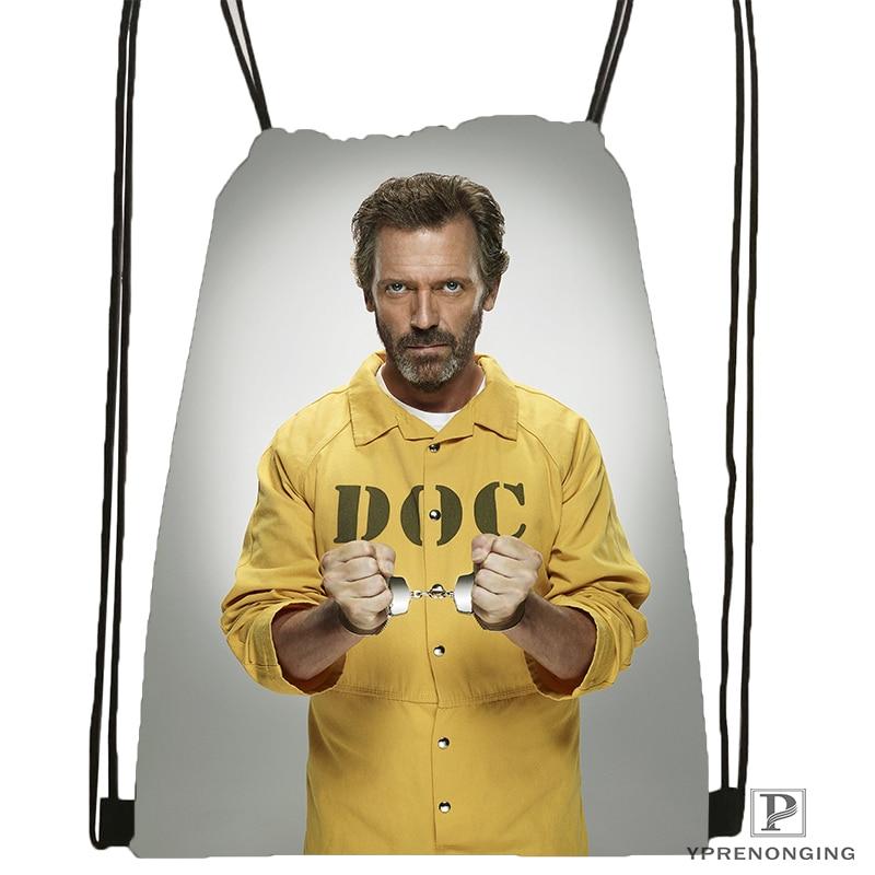 Custom HD Hugh Laurie Drawstring Backpack Bag For Man Woman Cute Daypack Kids Satchel (Black Back) 31x40cm#180531-01-19