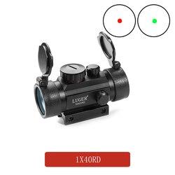 التكتيكية 1X40 ملليمتر الأحمر الأخضر نقطة النطاق البصري البصرية اصطدام الصيد Riflescope مع 11/20 مللي متر تتوافق مع بندقية في الهواء الطلق مسدس هواء
