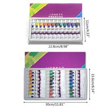 цена на 12ml 12/24 Color Professional Acrylic Paints Set Hand Painted Wall Paint Drawing E65C