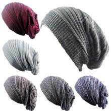 Fashion Men Women Beanie Hats Knit Ski Cap Winter Warm Loose Wool Hat Female Male Skullies Elastic Baggy Crochet Caps