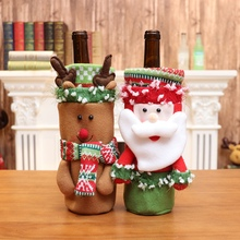 Christmas Wine Bottle Covers Decorative Treat Bags Holiday D